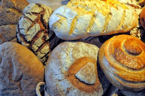 Beautiful hand-baked loaves.