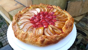 Pear & Strawberry Galette
